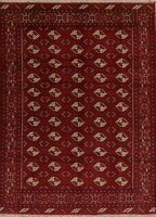 Decorative Geometric Balouch Oriental Area Rug Wool Hand-Knotted 7'x9' Carpet