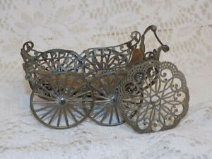 Antique Soft Metal Baby Doll Carriage German Doll 1893