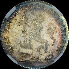 FINEST KNOWN @ PCGS & NGC MS63 1790 AUSTRIA LEOPOLD II CORONATION DUCAT TONED