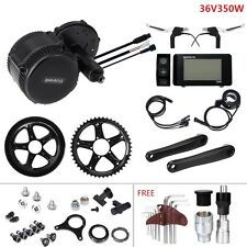 Black Retrofit Kit 36V350W Bafang Mid Drive Electric Bike Hub Conversion Kit BBS