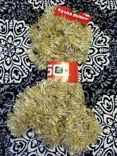 BRIGHT STAR Tinsel Christmas Garland Rope Shiny Shimmery Gold White 50 Ft USA