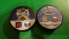 2018 & 2008  WINTER CLASSIC DUEL PUCK  Rangers vs Sabres  Penguins vs Sabres