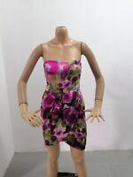 Vestitino ELISABETTA FRANCHI Donna Taglia Size 40 Dress Woman Seta 7613