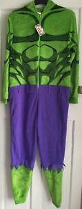 BNWT Official Marvel Comics INCREDIBLE HULK Mens Fleece Onesie Fancy Dress XS/S