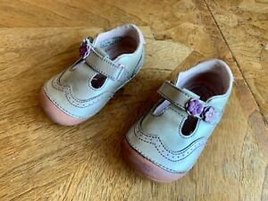 Stride Rite Toddler Girls' Shoes Genuine Leather Memory Foam Size EUR 22 / US 6W