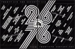 "20th Century Fox - ""26 for 76""__STAR WARS__Original 1976 Trade Print AD / poster"