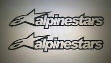 Alpinestars ADESIVI x2 Rally Race Motocross Kart larghezza 28cm altezza 6cm Nero
