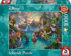 Peter Pan's Never Land: Schmidt Disney Premium Thomas Kinkade Jigsaw Puzzle 1000