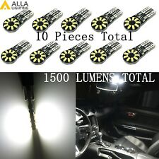 Alla Lighting 10x 18-Led Courtesy License Plate Side Marker Light Bulb 194,White