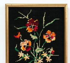 Tapisserie vintage bouquet de pensées
