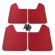 4pcs Red Moulded Universal Fit Mud Flap Mudflaps Front Rear Auto Accessories
