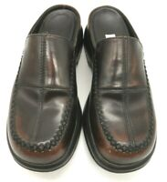 Dansko Brown Stitched Leather Slide Comfort Clogs Shoes Women's 38 / 7.5 - 8