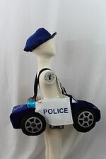 Boutique Police Car Cop Ride In 3-7 Halloween Costume Boy Girl Kids Cruiser NEW