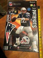 "Tom Brady New England Patriots Fathead Teammate Super Bowl 51 Champs 6.5 x 16.""H"