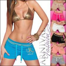 Polyester Patternless Low Rise Shorts for Women