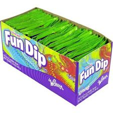 WONKA´S FUN DIP CANDY 48ct, Cherry & Razzapple Mix Party Convenient Packs