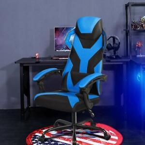 Sedia da Gioco Altezza Regolabile, Sedia da Gaming con Cuscino da Schiena