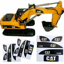 1/14 CAT 320D Sticker Set for Huina 550 15 Channel RC Excavator Amewi Decals