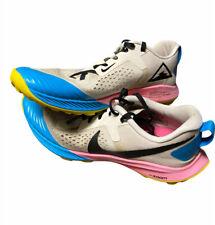 Nike Trail Terra Kiger Running Shoes White Pink Black AQ2220-100 Womens Size 10