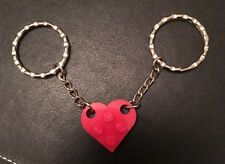 Lego Heart KeyRing Friendship Key Chain Love Friends Gift