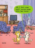Cats Place Funny Birthday Greeting Card Fernz Animalfunction Humour Cards