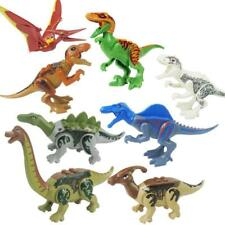 8pcs SET Jurassic World Dinosaurs Mini Figures Building Block Toys For Kids Gift