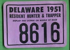 Delaware 1951 Resident Hunter & Trapper License/ Rw18 Federal Duck Stamp - 302