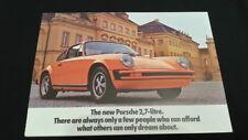 english language Orig. Porsche 911 911S Carrera 2,7 Prospekt Brochure