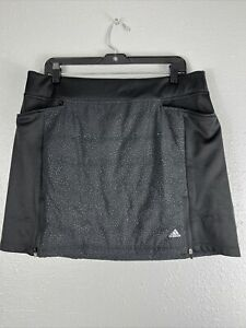 Adidas Quilted Golf  Tennis Skirt Large L Black DV3600 Women's NWT $80