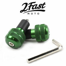 "2FastMoto Green Aluminum Bar Ends Anti Vibration Pair 7/8"" Bars Scooter Moped"