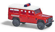 Busch 8375 ESCALA N 1:160 - Land Rover Defender »BOMBERO« - Nuevo en EMB. orig.