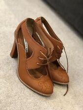 Other Stories High Heeled Full Grain Leather Cut Out Brogues Size 38(5).