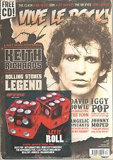 VIVE LE ROCK #34 - UK MUSIC MAGAZINE+CD - KEITH RICHARDS-DAVID BOWIE-IGGY POP