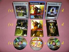 3x ps2 _ DEVIL MAY CRY 3 & Splinter Cell & Tomb Raider The Angel of Darkness