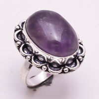 925 Sterling Silver Overlay Ring US Size 8, Natural Gemstone Jewelry PR533