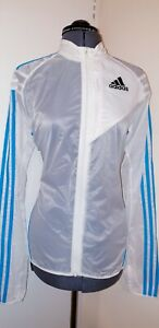 BNWT Adidas Transparent Lightweight Jacket (Women's Size L/Colour:White & Blue)