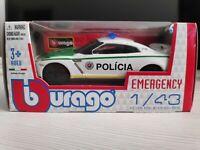 Bburago Burago 1/43 EMERGENCY - Slovak Police die cast car Nissan Slovakia - NIB