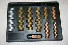 Monnayeur + 275 pièces Euro Factices en plastique de 1 centimes a 2 € .NEUF