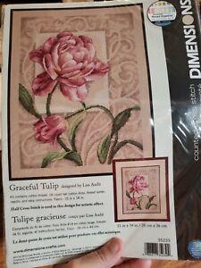 New Graceful Tulip Tulipe Gracieuse Kit Dimensions #35239 Lisa Audit Sealed
