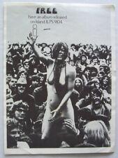 FREE 1969 PROMO ADVERT Paul Rodgers Kossoff ISLAND RECORDS