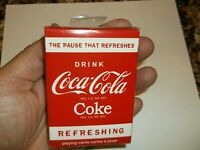 One Deck of Coca-Cola Refreshing Playing Cards Drink Coke Card Bicycle U.S.A.
