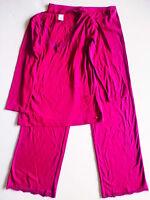 Calvin Klein Damen Schlafanzug, Lila Pyjama-set Nachtwear Rein Baumwolle Größe;M