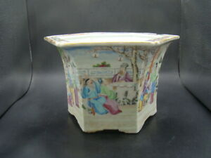 Chinese Jia Qing (1796-1820) nice famille rose big flower pot   c6851