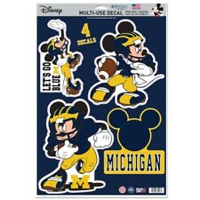 Michigan Wolverines Let'S Go Blue Mickey Mouse Laptop Multi Use Reusable Decals