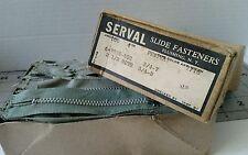 11.13) Lot of 60 +  Vintage metal zippers Serval NOS OLIVE GREEN 4 INCH SLIDE