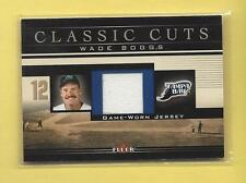 2002 FLEER CLASSIC CUTS WADE BOGGS GAME-WORN JERSEY #WB-J DEVIL RAYS