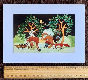 """PEACEABLE ALASKA"" ©1982 Rie Munoz Vintage Mini-Print Mounted to Wht. Foam Core"