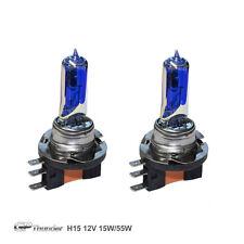 GP Thunder 8500K H15 15W/55W Dual Beam Xenon Light Bulb Pair Platinum White