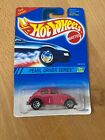 1994 HOT WHEELS VW Volkswagen Beetle Bug #293 New Pearl Driver Series Pink NIP