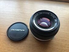 Olympus OM Zuiko Auto-S 50mm f1.8 Lens.